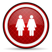 Grafiek rode glanzende pictogram op witte achtergrond — Stockfoto