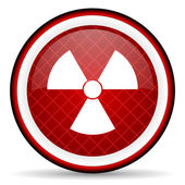 Radiation red glossy icon on white background — Stock Photo