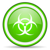 Virus green glossy icon on white background — Stock Photo