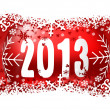 2013 new years illustration with christmas ball — Stock Photo