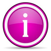 Information violet glossy icon on white background — Stock Photo