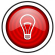 Light bulb red glossy icon isolated on white background — Stock Photo #18056055