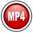 Mp4 red glossy icon isolated on white background — Stock Photo #18056727