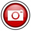 Camera red glossy icon isolated on white background — Stock Photo #18056989