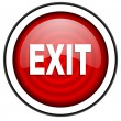 Royalty-Free Stock Photo: Exit red glossy icon isolated on white background
