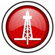 Drilling red glossy icon isolated on white background — Stock Photo #18058427