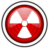 Radiation red glossy icon isolated on white background — Stock Photo