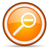 Magnification orange glossy icon on white background — Stock Photo