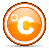 Celsius orange glossy icon on white background — Stock Photo