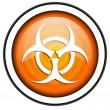 Stock Photo: Virus orange glossy icon isolated on white background