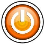 Power orange glossy icon isolated on white background — Stock Photo #18172705