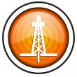 Drilling orange glossy icon isolated on white background — Stock Photo #18172827