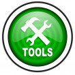 Tools green glossy icon isolated on white background — Stock Photo #18173673