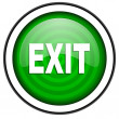 Exit green glossy icon isolated on white background — Stock Photo #18173751