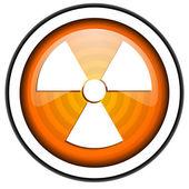 Radiation orange glossy icon isolated on white background — Stock Photo