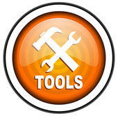 Tools orange glossy icon isolated on white background — Stock Photo