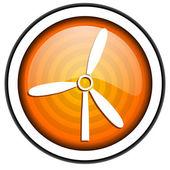 Windmill orange glossy icon isolated on white background — Stock Photo