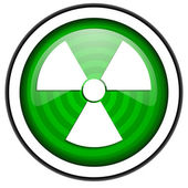 Radiation green glossy icon isolated on white background — Stock Photo