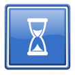 Time blue glossy square web icon isolated — 图库照片 #18279445