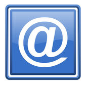At blue glossy square web icon isolated — Stock Photo