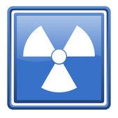 Radiation blue glossy square web icon isolated — Stock Photo