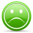 Stock Photo: Cry green glossy icon on white background