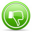 Stock Photo: Thumb down green glossy icon on white background