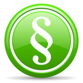 Paragraph green glossy icon on white background — Стоковое фото