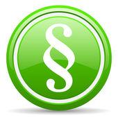 Absatz grün glänzende symbol auf weißem hintergrund — Stockfoto