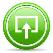 Enter green glossy icon on white background — Stock Photo