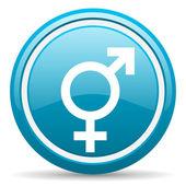 Seks niebieski ikona na białym tle — Zdjęcie stockowe