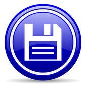 Dysk niebieski ikona na białym tle — Zdjęcie stockowe