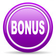 Royalty-Free Stock Photo: Bonus violet glossy icon on white background