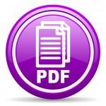 Pdf violet glossy icon on white background — Stock Photo #18635159