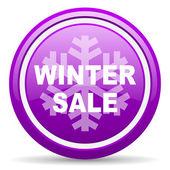 Zimą sprzedaż fiołek ikona na białym tle — Zdjęcie stockowe