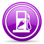 Fuel violet glossy icon on white background — Stock Photo