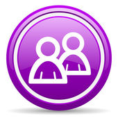 forum violet glossy icon on white background — Stok fotoğraf