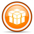 Box orange glossy icon on white background — Stock Photo #18815307