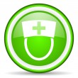 Nurse green glossy icon on white background - Stock Photo