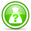 Riddle green glossy icon on white background — Stock Photo
