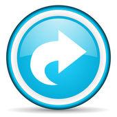 Next blue glossy icon on white background — Stock Photo