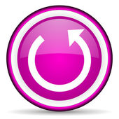 Rotate violet glossy icon on white background — Stock Photo