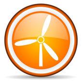 Windmill orange glossy icon on white background — Stock Photo