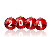 2014 new years illustration — Foto Stock