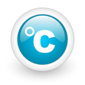 Celsius blue circle glossy web icon on white background — Stock Photo