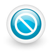 Access denied blue circle glossy web icon on white background — Stock Photo