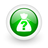 Riddle green circle glossy web icon on white background — Stock Photo