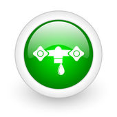 Water green circle glossy web icon on white background — Stock Photo