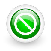 Access denied green circle glossy web icon on white background — Stock Photo