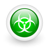 Virus green circle glossy web icon on white background — Stock Photo
